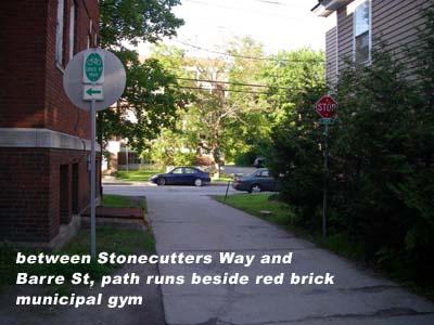 jct Stonecutters Way - Barre St
