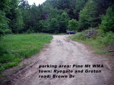 Pine Mt parking