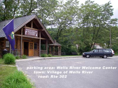 Wells River Welc Ctr parking