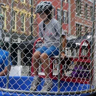 boy in dunk tank