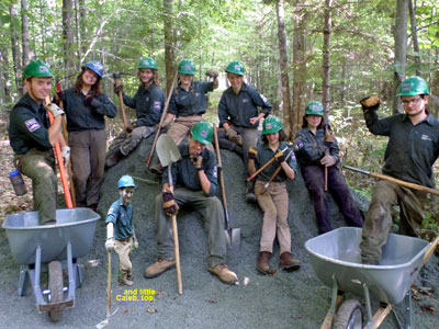 trail crew smiling