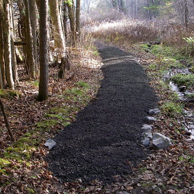 newly made gravel trail