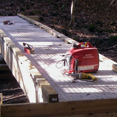 putting deck on bridge