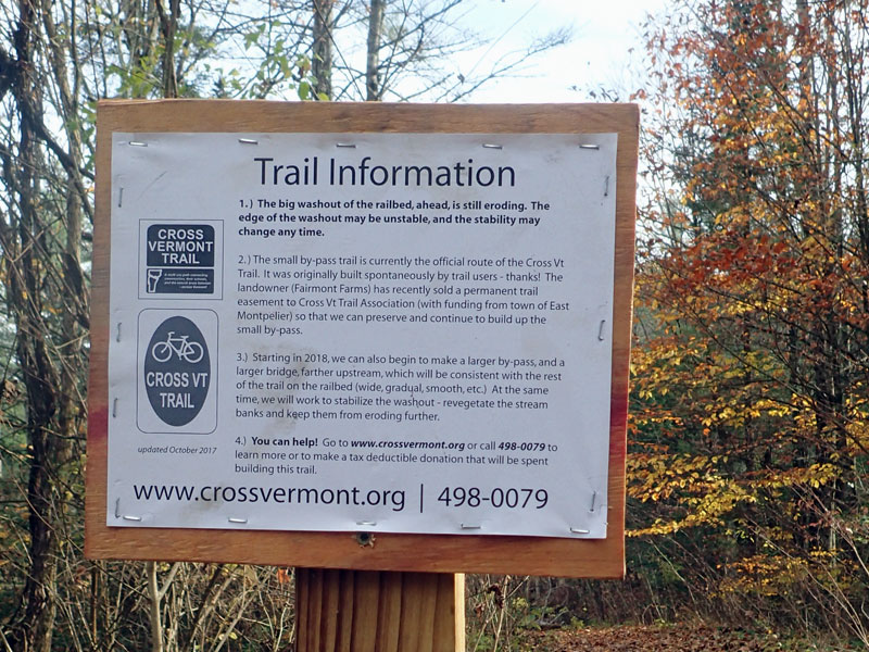 trail information sign
