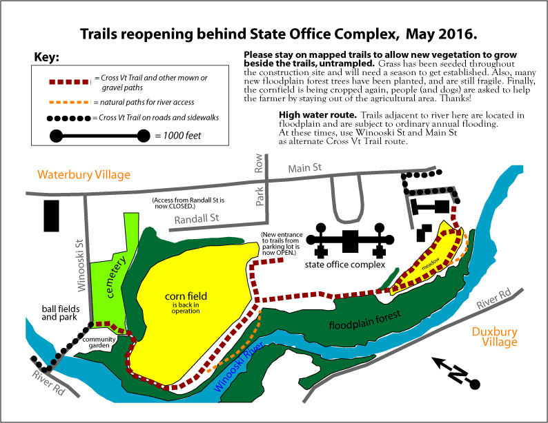 map of reopened trails